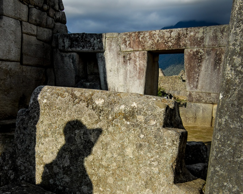 Shadow of a woman at Machu Picu