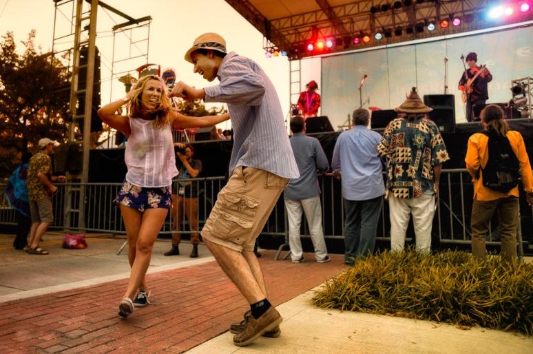 Dancing in Lafayette, LA at Festival International de Louisiane
