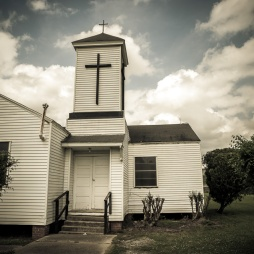 Old church at the side of the road in SW Louisianna