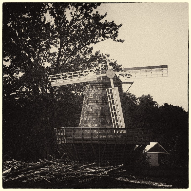 Old damaged windmill