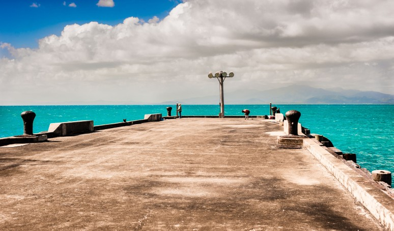 An abandoned pier in Vieques, PR.