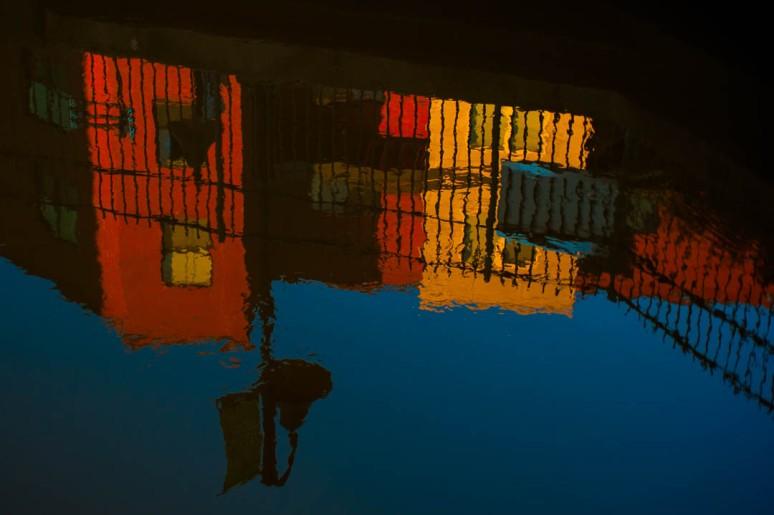 Brightly lit reflection in Richmond